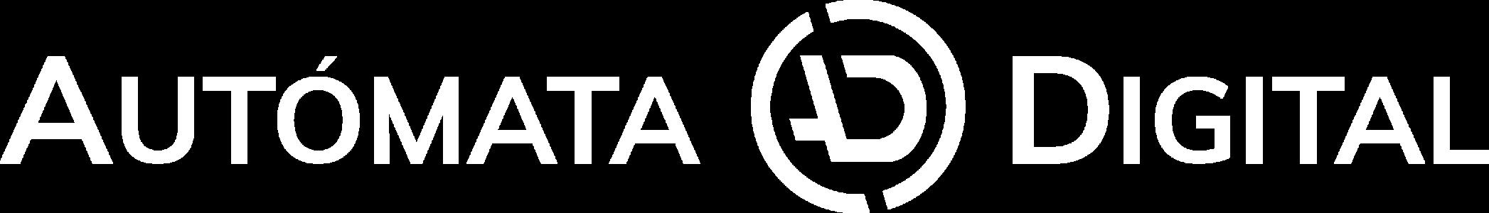 Logo autómata digital blanco